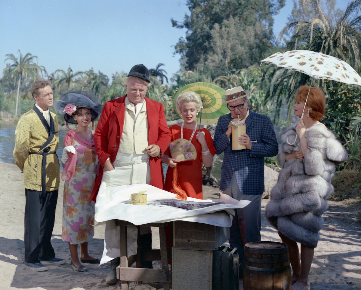 Russell Johnson (as Professor Roy Hinkley), Dawn Wells (as Mary Ann Summers), Alan Hale Jr. (as Jonas 'The Skipper' Grumby), Natalie Schafer (as Mrs. Lovey Howell), Jim Backus (as Thurston Howell III), Tina Louise (as Ginger)