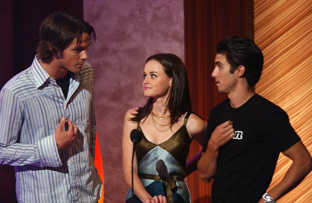 Jared Padalecki, Alexis Bledel and Milo Ventimiglia of Gilmore Girls