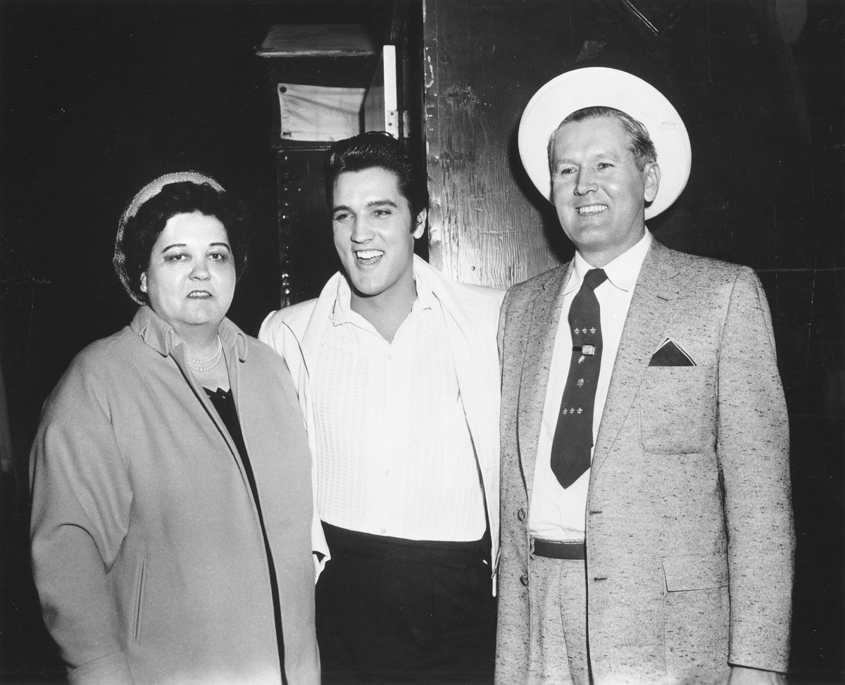 Gladys, Elvis, and Vernon Presley