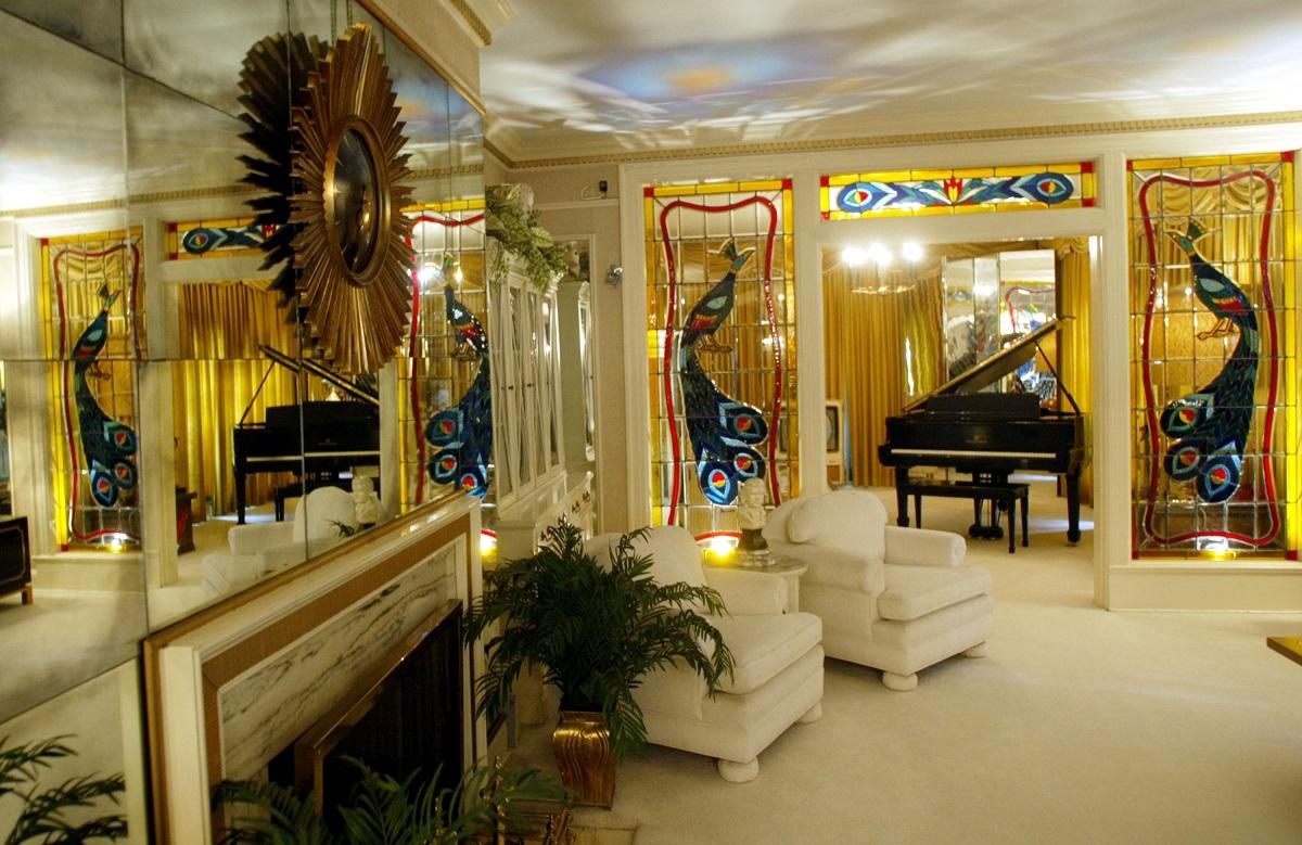 Elvis Presley's living room at Graceland