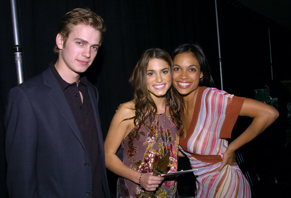 Hayden Christensen, Nikki Reed, and Rosario Dawson