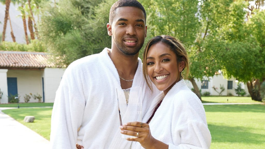 Ivan Hall and Tayshia Adams on their Fantasy Suite date on 'The Bachelorette' Season 16 Episode 12 finale on December 21, 2020