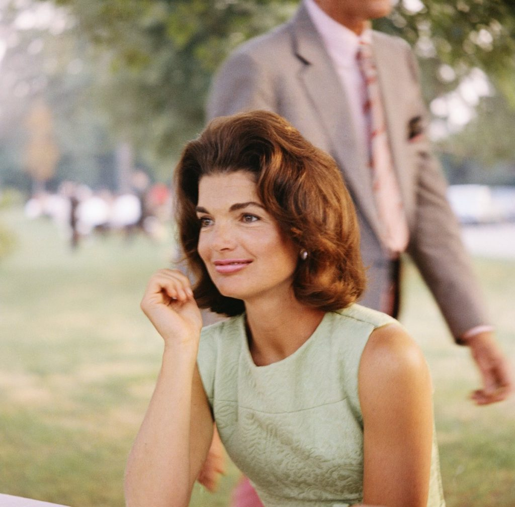 Former First Lady Jacqueline Kennedy enjoys herself at a picnic circa the 1960s | Michael Ochs Archives/Getty Images