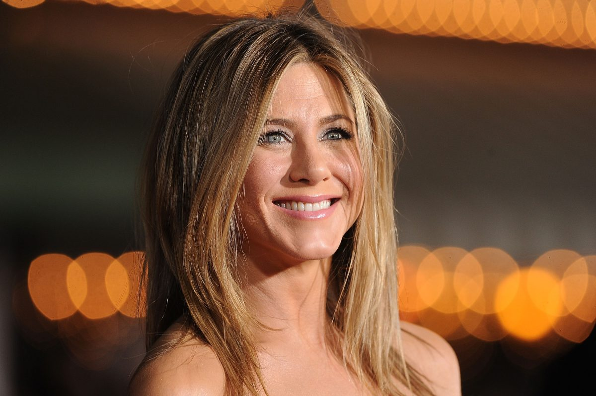 Jennifer Aniston arrives at the premiere of Universal Pictures' 'Wanderlust' held at Mann Village Theatre on February 16, 2012