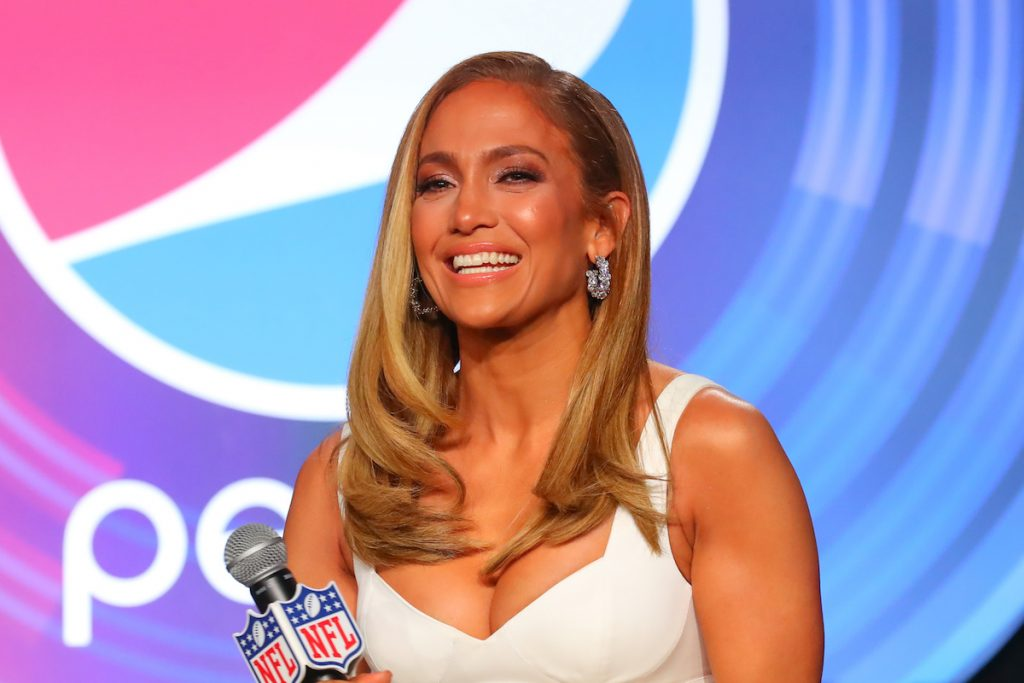 Jennifer Lopez during the Pepsi Super Bowl LIV Halftime show press conference on January 30, 2020 at the Hilton Downtown Miami in Miami, FL.