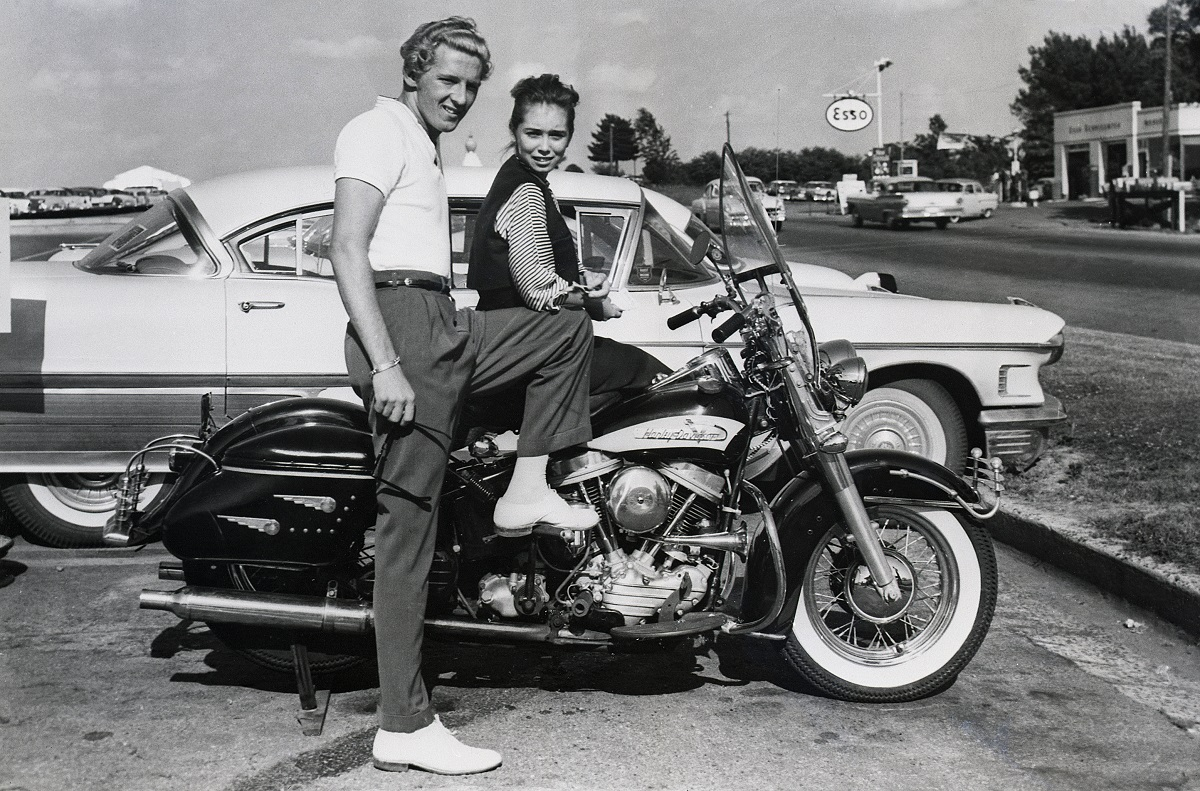 Jerry Lee Lewis and Myra Gale Brown in 1958