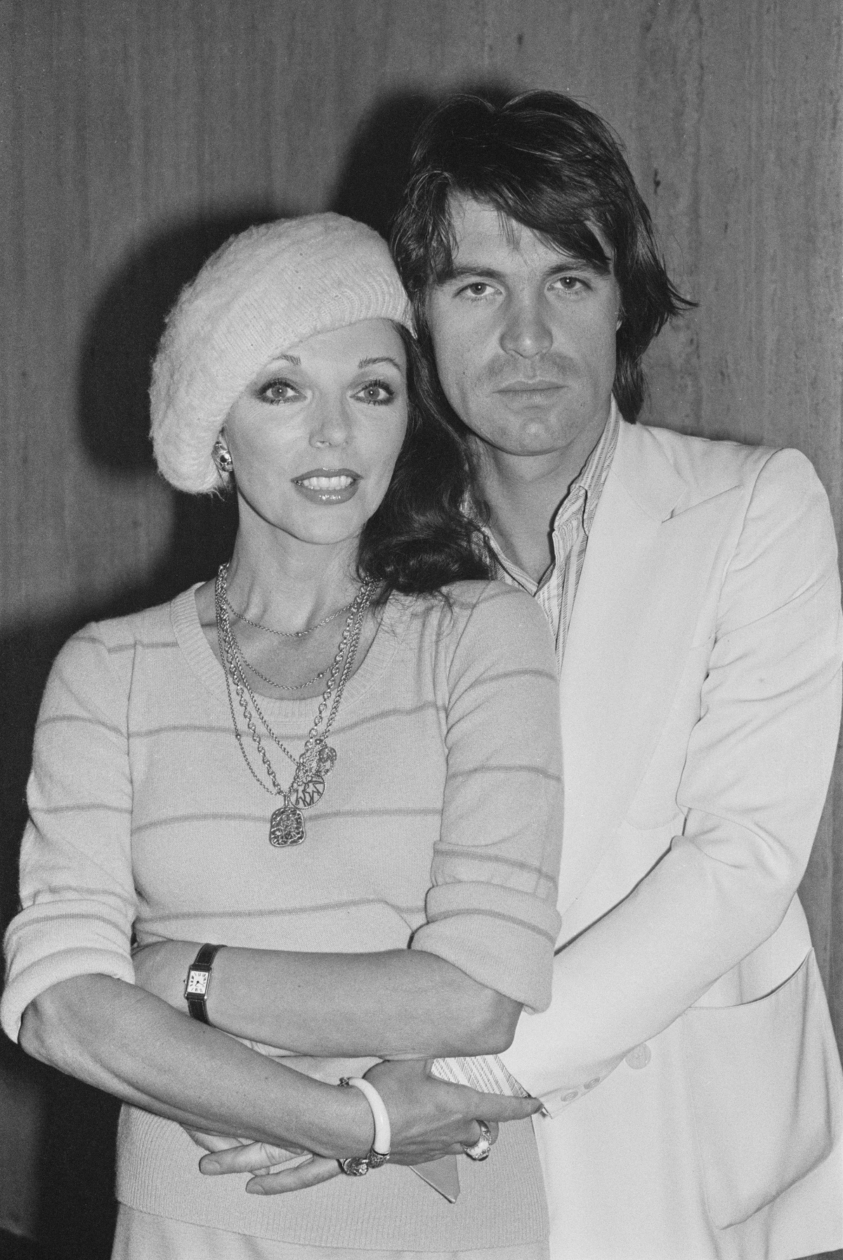 Joan Collins and Oliver Tobias
