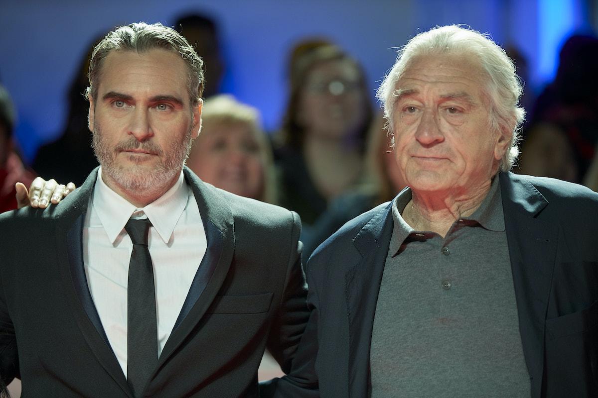 Joaquin Phoenix and Robert De Niro at the 'Joker' premiere