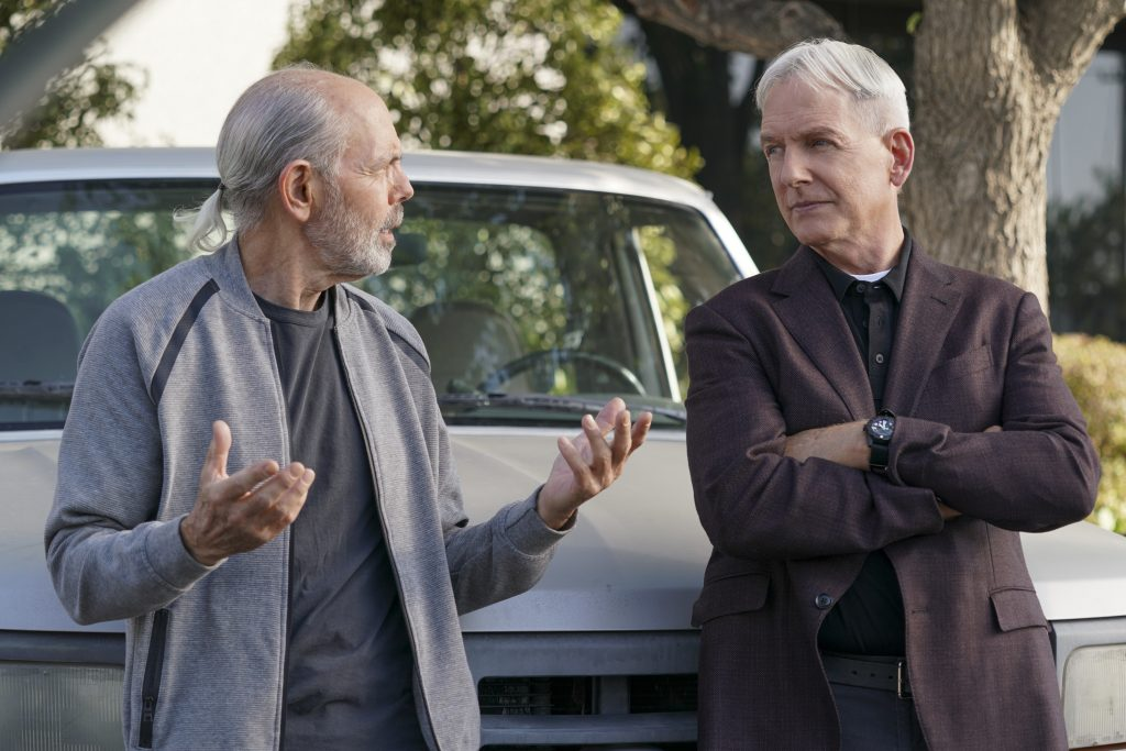 Joe Spano as Tobias T.C. Fornell and Mark Harmon as NCIS Special Agent Leroy Jethro Gibbs | Sonja Flemming/CBS via Getty Images