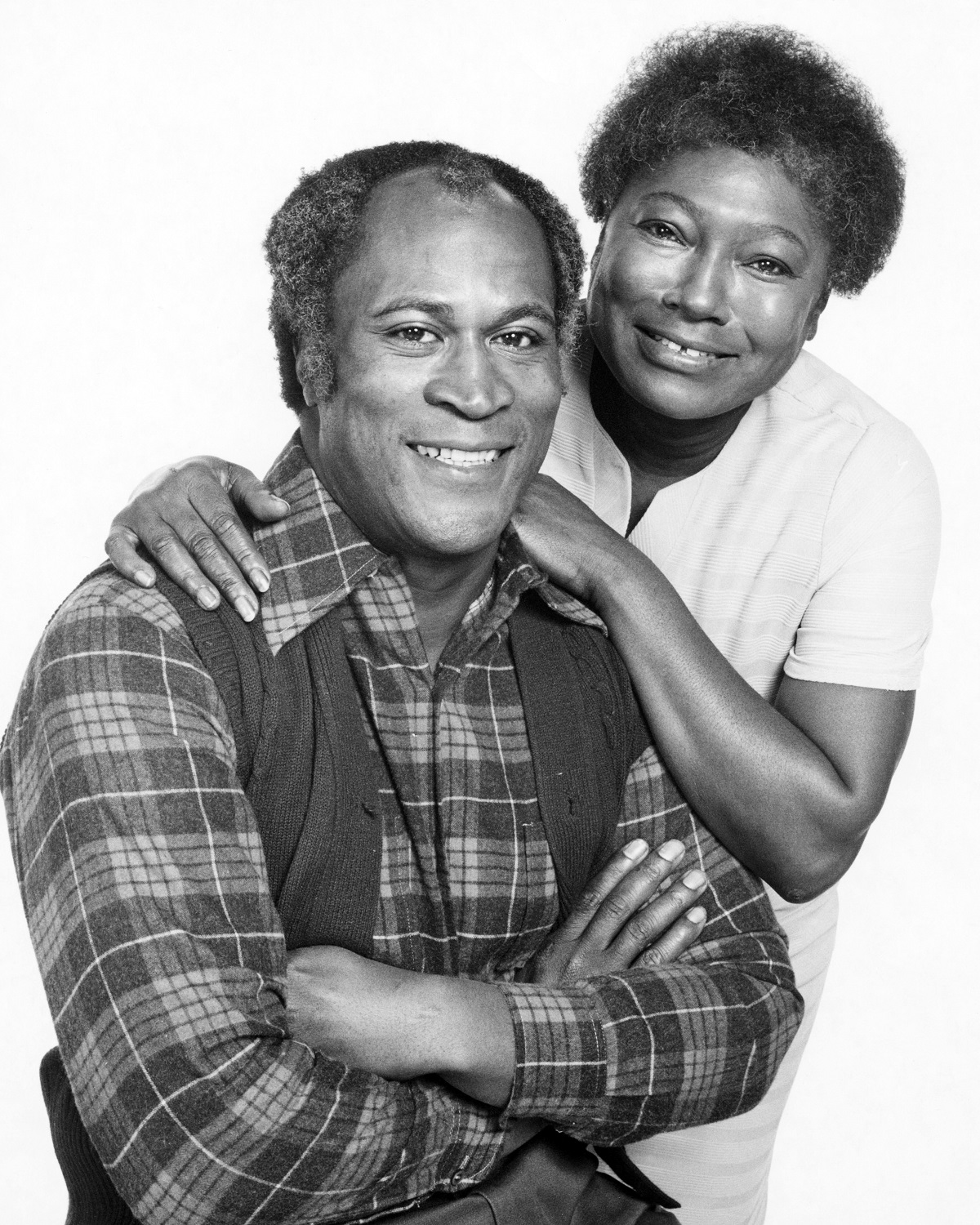 John Amos as James Evans and Esther Rolle as Florida Evans