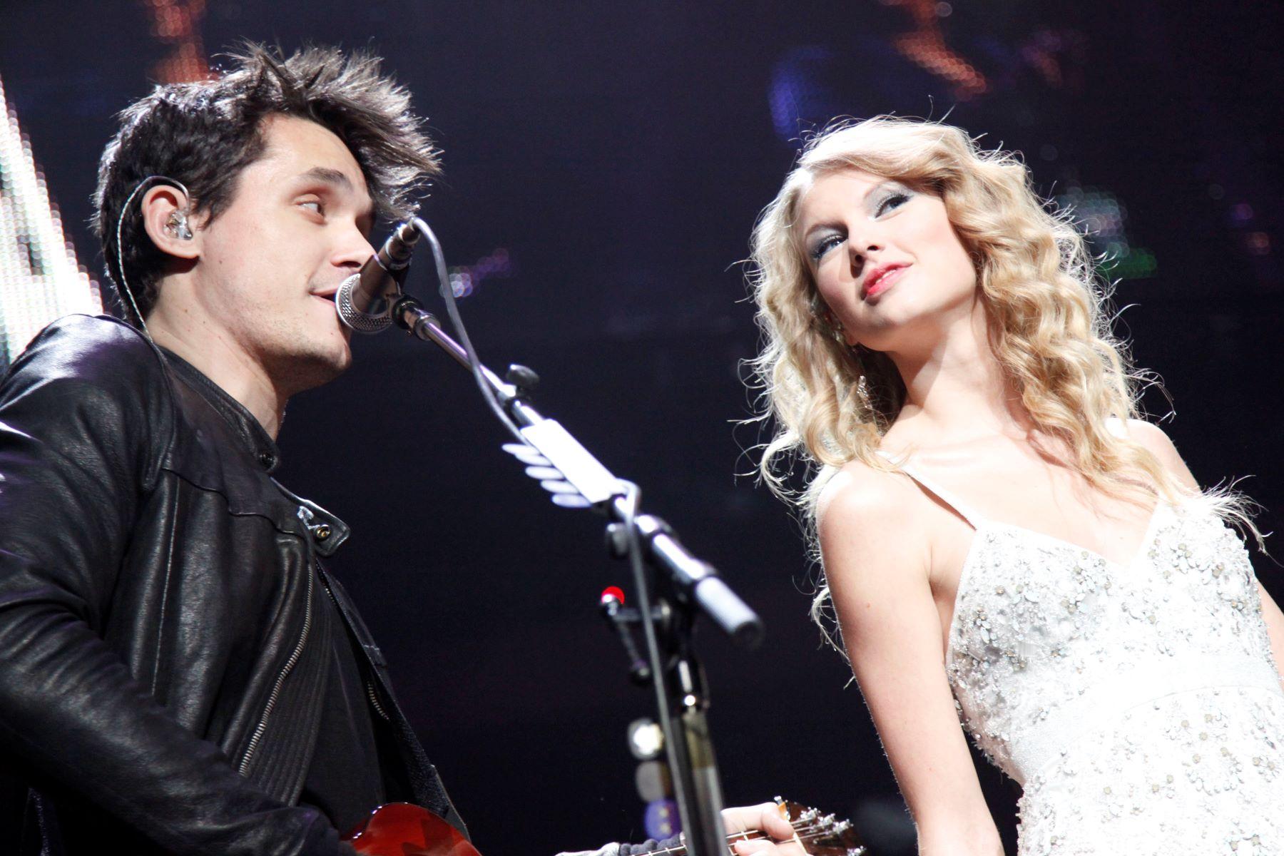 John Mayer and Taylor Swift attend Z100 JINGLE BALL 2009