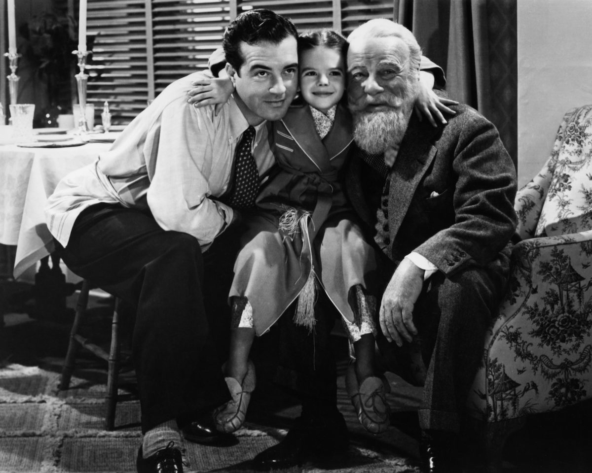 John Payne, Natalie Wood, and Edmund Gwenn in 'Miracle on 34th Street'