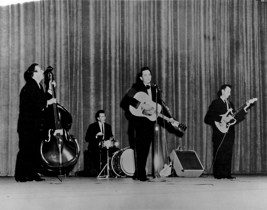 Johnny Cash, Marshall Grant, W.S. Holland, and Luther Perkins