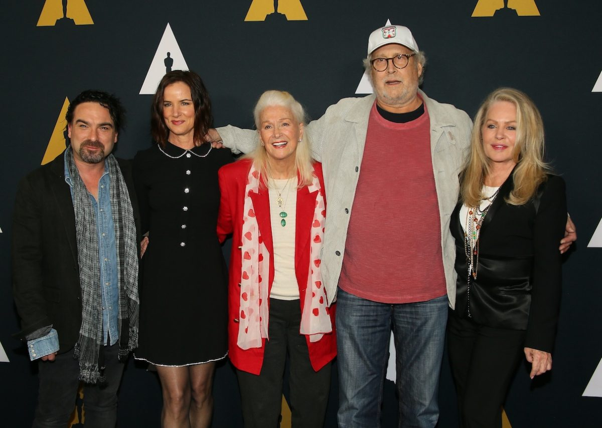 Johnny Galecki, Juliette Lewis, Diane Ladd, Chevy Chase, and Beverly D'Angelo attend a 30th anniversary screening of 'National Lampoon's Christmas Vacation'