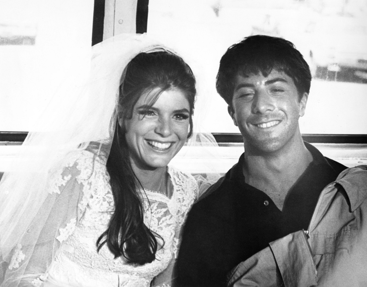 Katharine Ross and Dustin Hoffman in 'The Graduate'