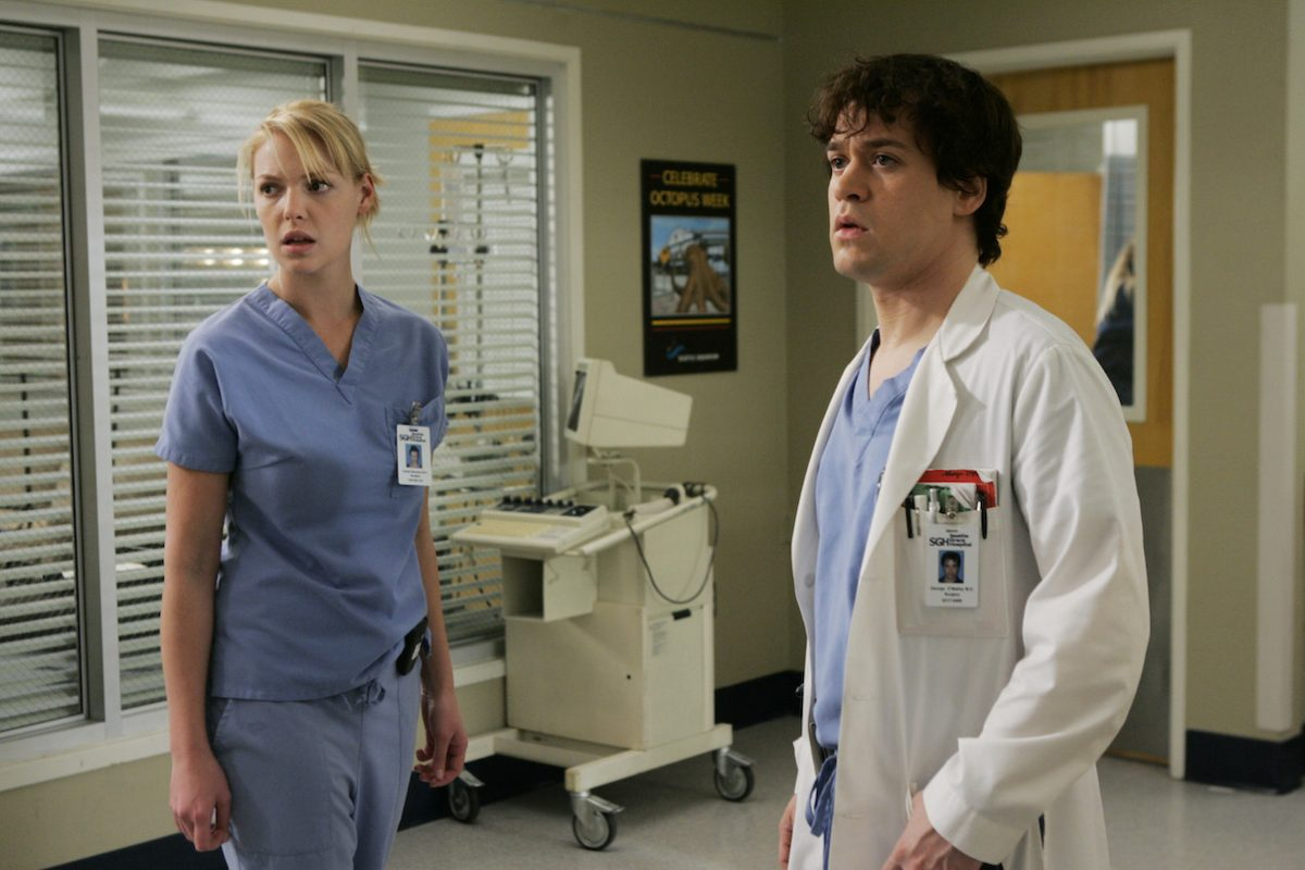 Katherine Heigl and T.R. Knight in a scene from 'Grey's Anatomy'