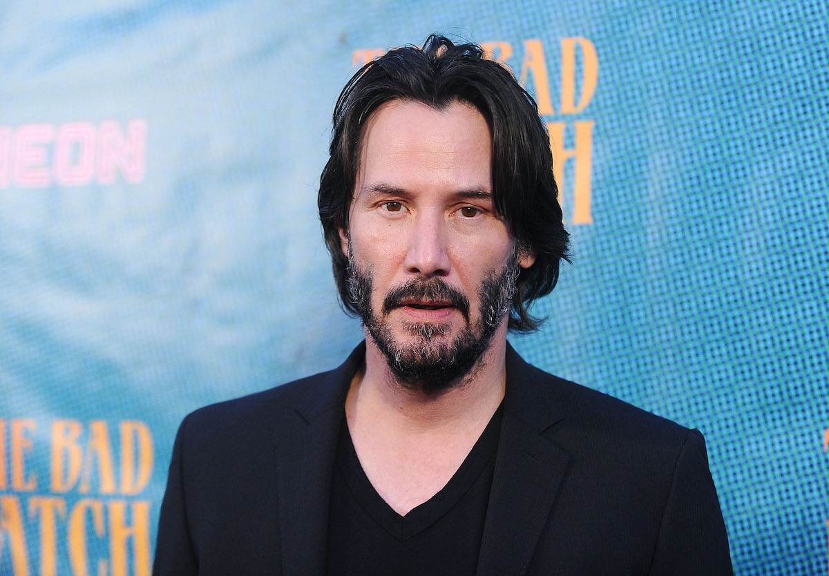 Keanu Reeves at 'The Bad Batch' premiere
