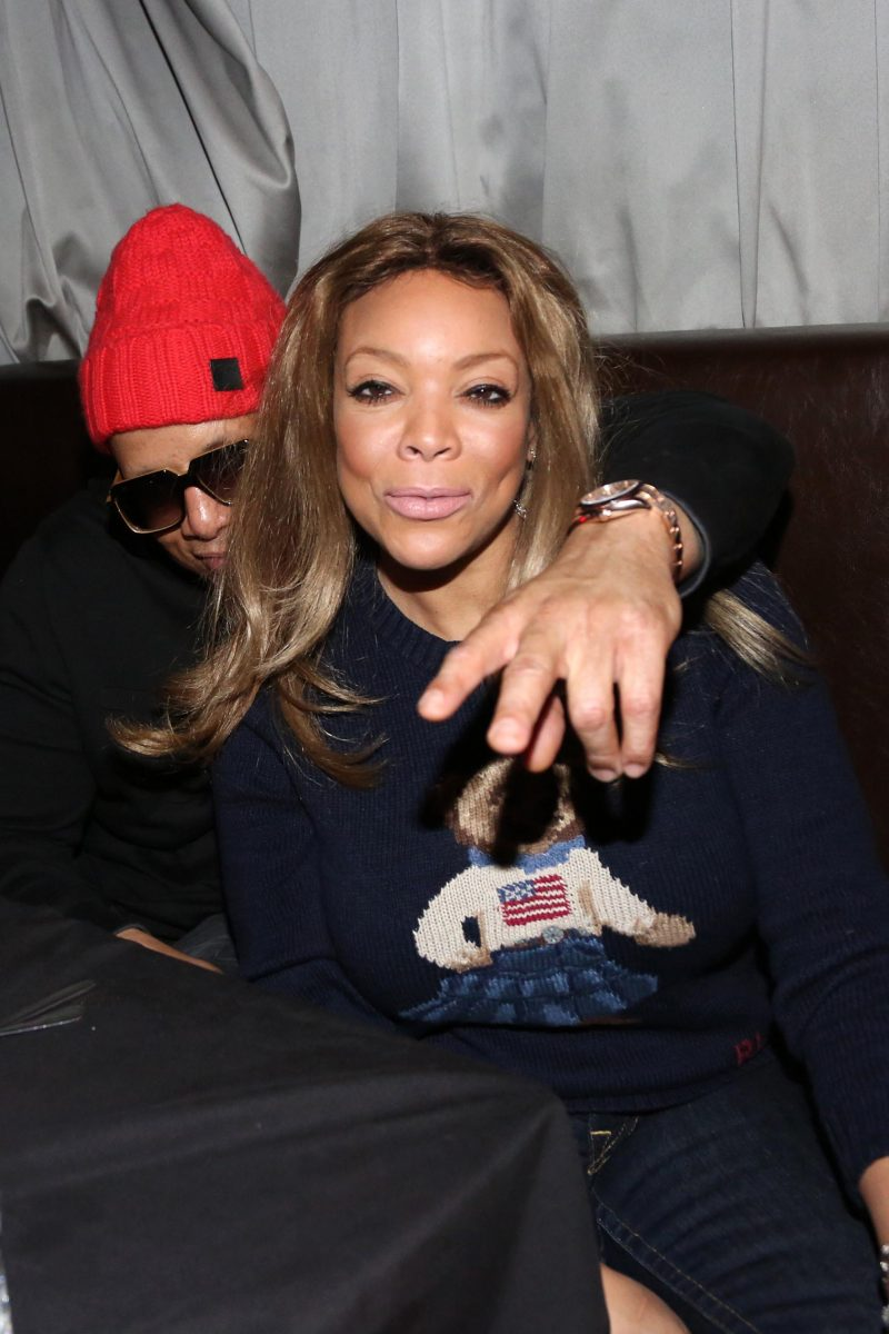 TV personality Wendy Williams (r) and husband Kevin Hunter attend the Smif N Wessun - Dah Shinin' 20 Year Anniversary concert at S.O.B.'s on January 14, 2015 in New York City.