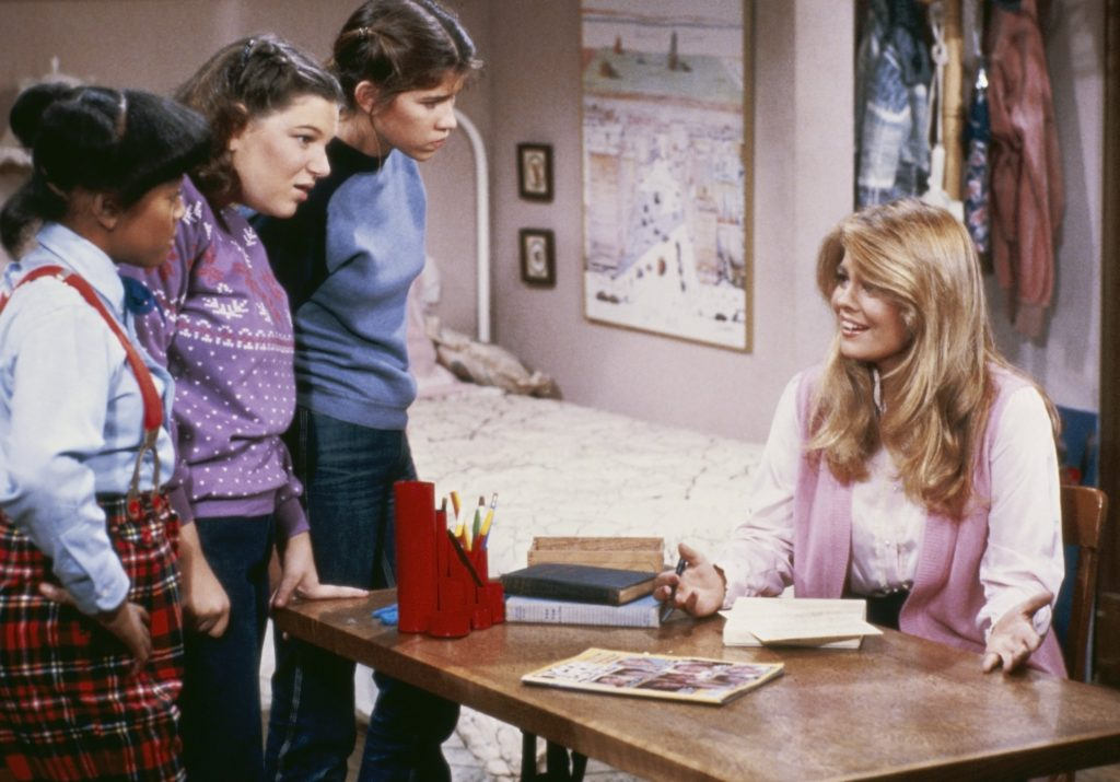 Kim Fields, Mindy Cohn, Nancy McKeon, and Lisa Whelchel of 'The Facts of Life'