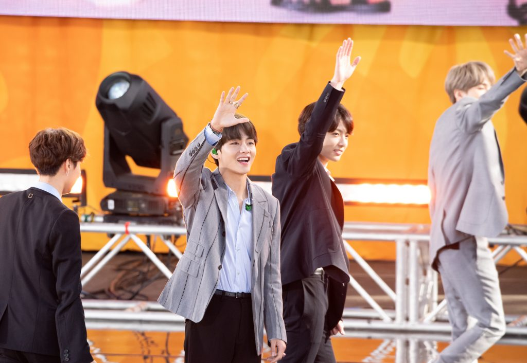 Kim Taehyung and Jungkook of BTS perform on 'Good Morning America'