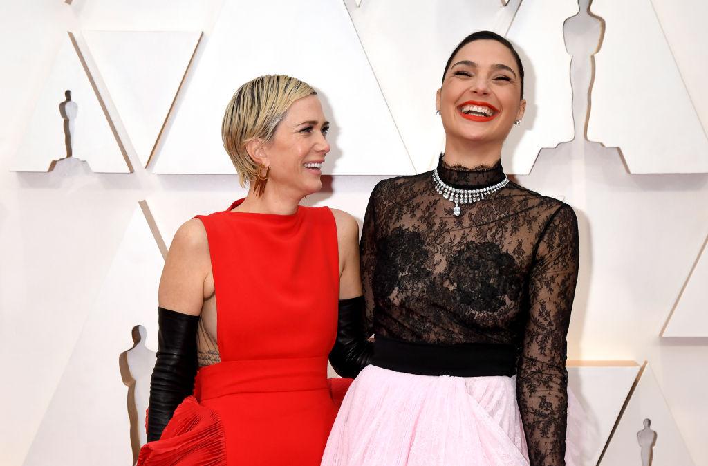 "Kristen Wiig and Gal Gadot of ""Wonder Woman 1984 at the Oscars 2020"