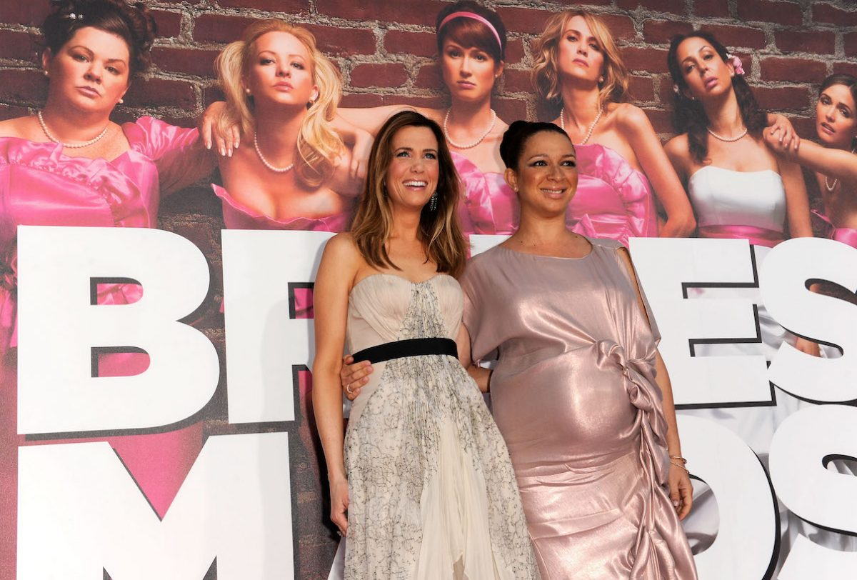 Kristen Wiig and Maya Rudolph at the Los Angeles premiere of 'Bridesmaids'