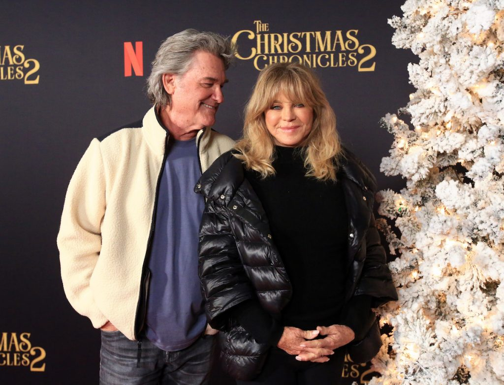 """Kurt Russell (L) and Goldie Hawn attend Netflix's """"The Christmas Chronicles: Part Two"""""""