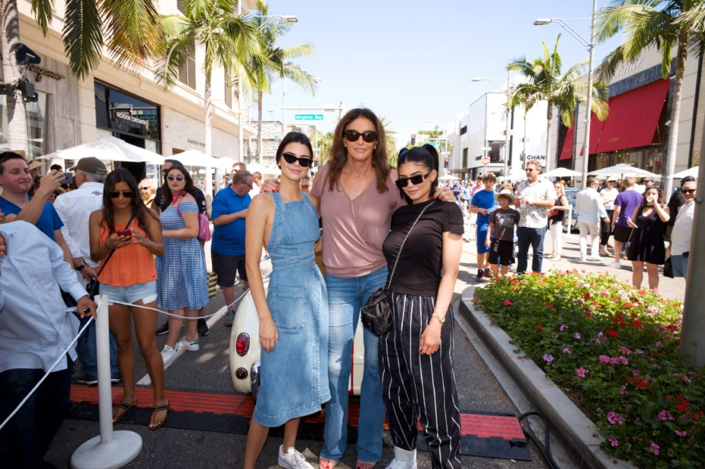 Kendall Jenner, Caitlyn Jenner and Kylie Jenner pose for a photo