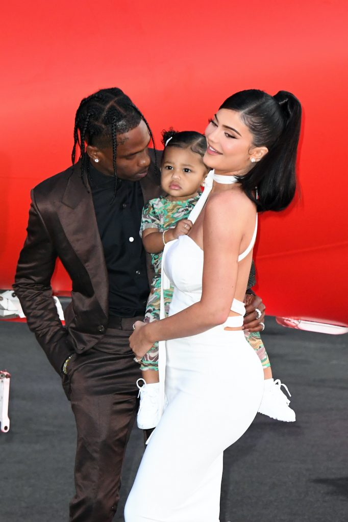 Kylie Jenner and Travis Scott with their daughter, Stormi