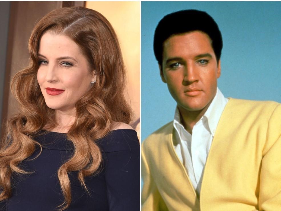 (L) Lisa Marie Presley, (R) Elvis Presley
