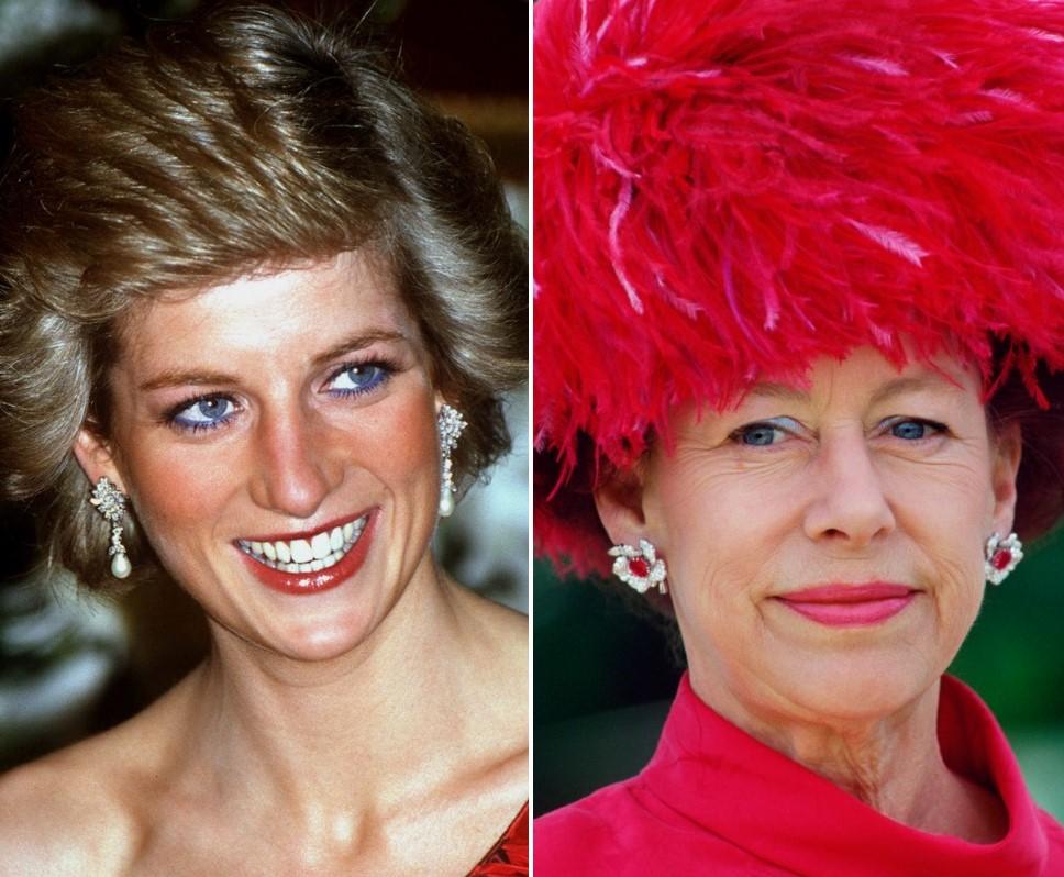 (L): Princess Diana, (R): Princess Margaret
