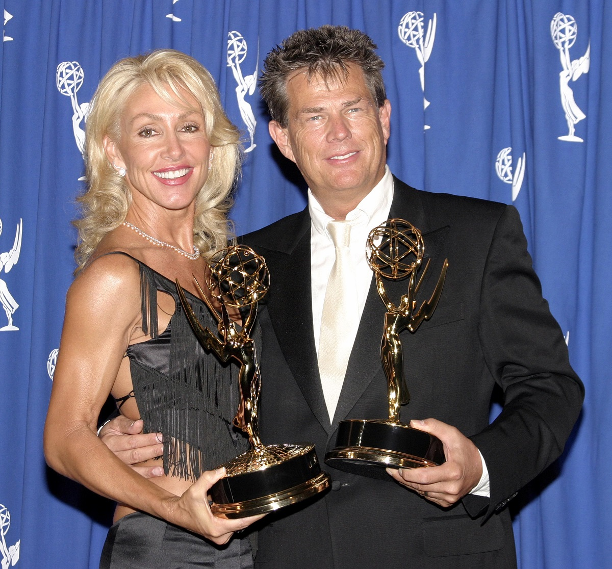 David Foster and Linda Thompson at the 55th Annual Primetime Emmy Awards