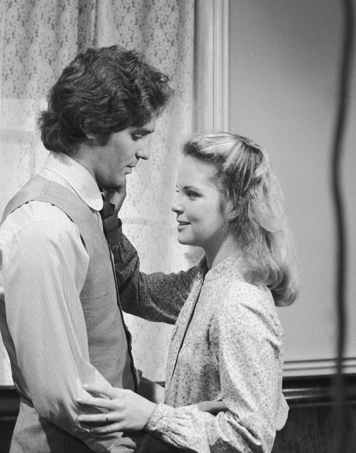 Linwood Boomer and Melissa Sue Anderson on  'Little House on the Prairie'