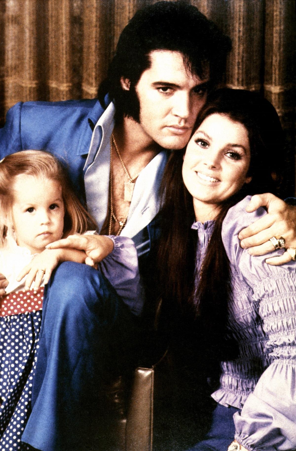 Lisa Marie Presley, Elvis Presley, and Priscilla Presley