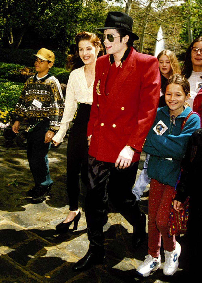 Michael Jackson & Lisa Marie Presley attending a children's charity event in Los Angeles April 1995