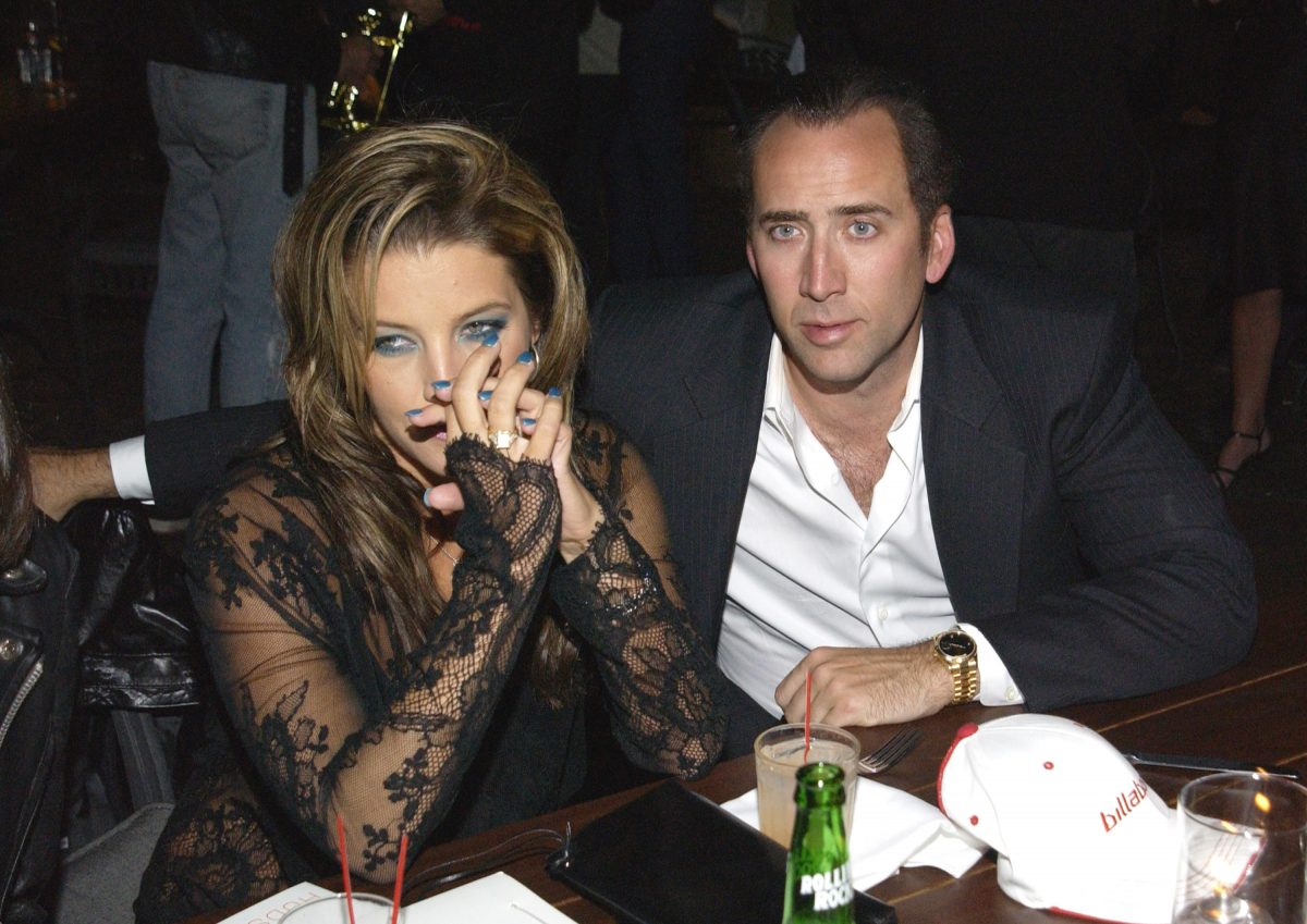 Lisa Marie Presley and Nicolas Cage during MTV After Party at the Hudson Hotel