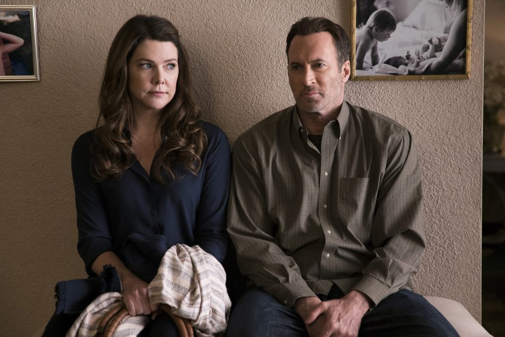 Lorelai Gilmore and Luke Danes in 'Gilmore GIrls: A Year in the Life'