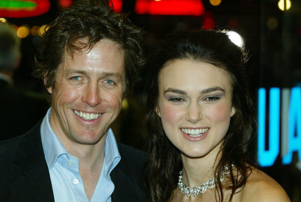 "Hugh Grant and Keira Knightley attend the UK charity film premiere of ""Love Actually"""
