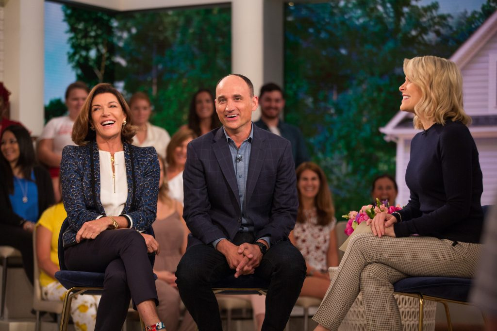 (L-R) Hilary Farr, David Visentin and Megyn Kelly laughing on 'Megyn Kelly Today'