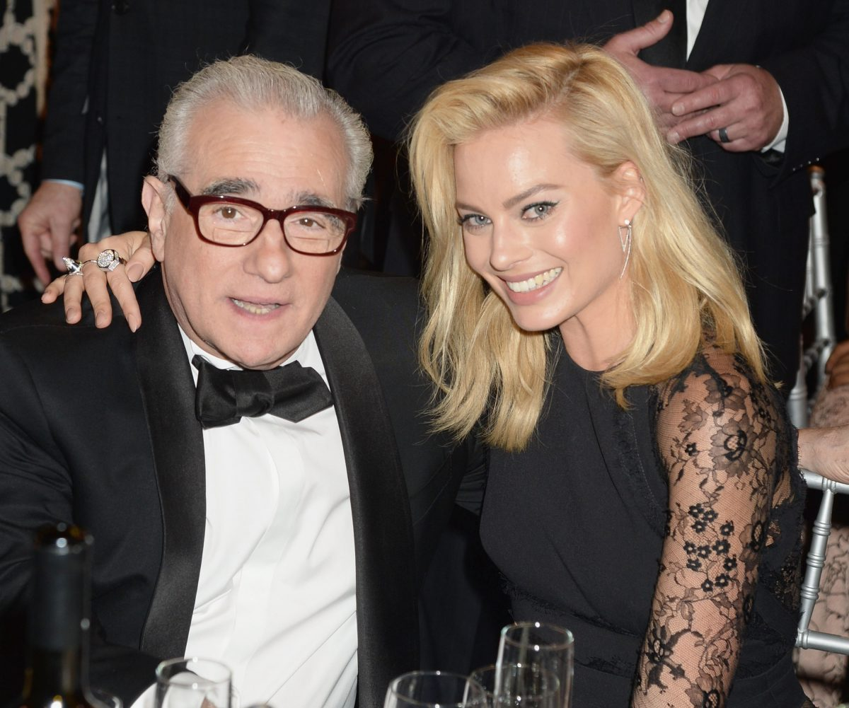 Director Martin Scorsese and actress Margot Robbie attend the 19th Annual Critics' Choice Movie Awards at Barker Hangar on January 16, 2014 in Santa Monica, California. (