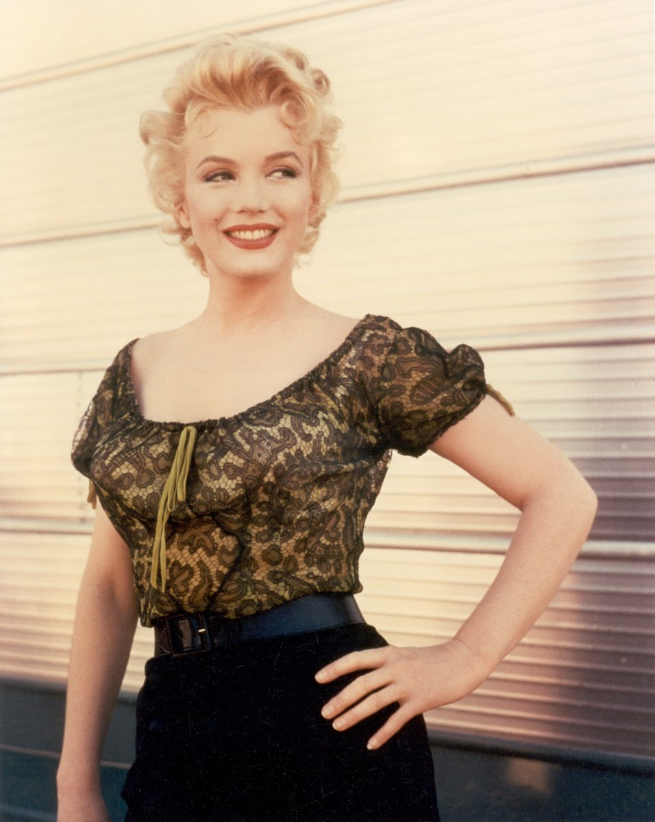 1956: Actress Marilyn Monroe in a scene from 'Bus Stop' in 1956