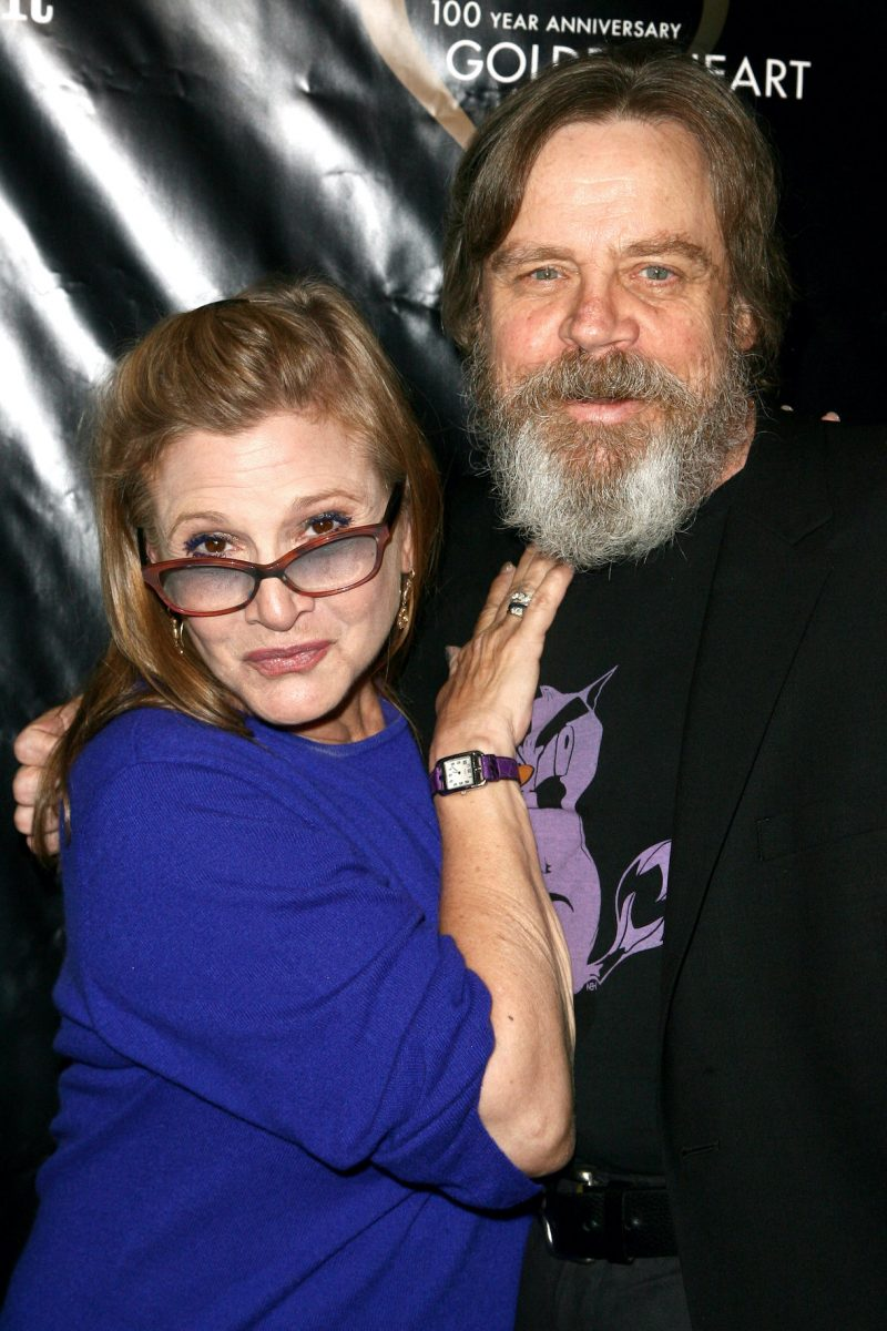 Actors Carrie Fisher and Mark Hamill