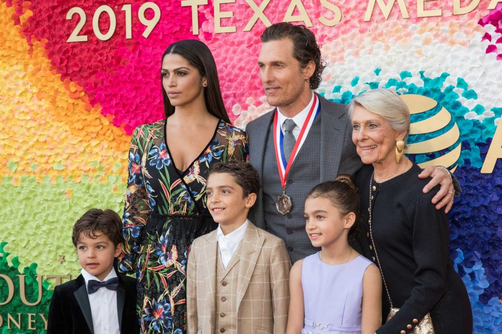 Matthew McConaughey with his family   Rick Kern/WireImage