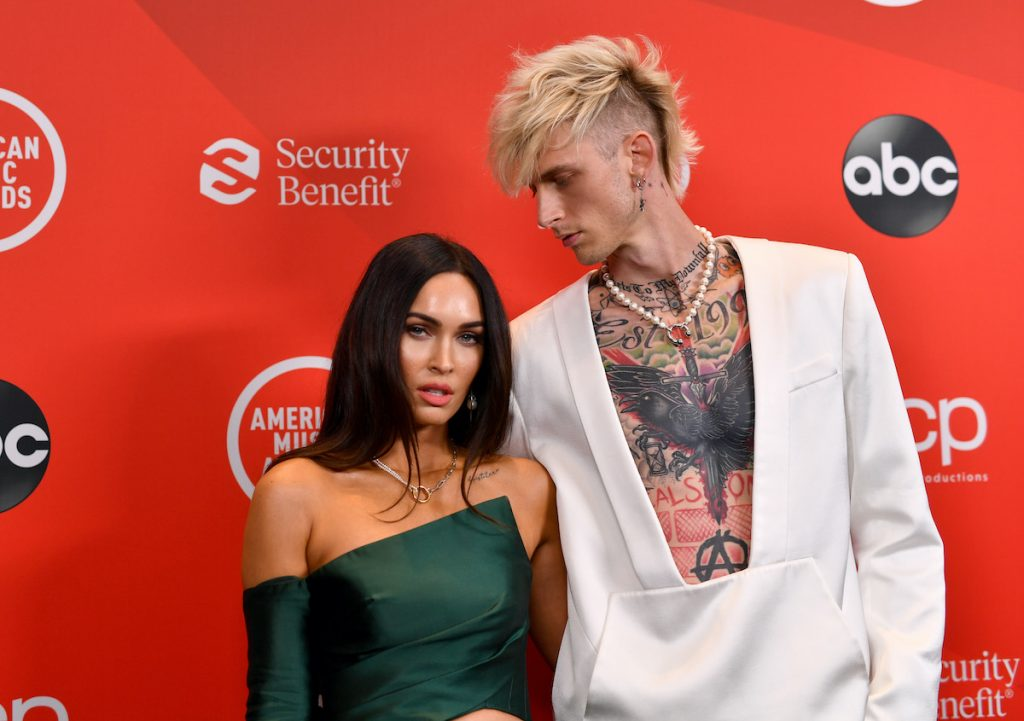 Megan Fox and Machine Gun Kelly attend the 2020 American Music Awards on November 22, 2020 in Los Angeles, California   Emma McIntyre /AMA2020/Getty Images for dcp