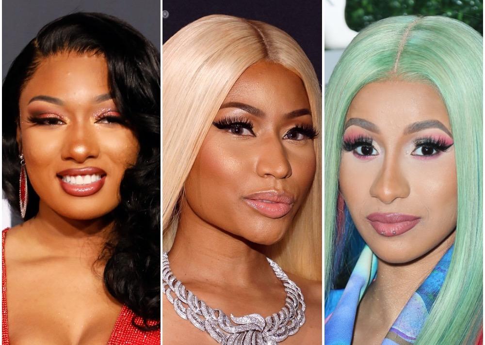 Megan Thee Stallion, Nicki Minaj, and Cardi B
