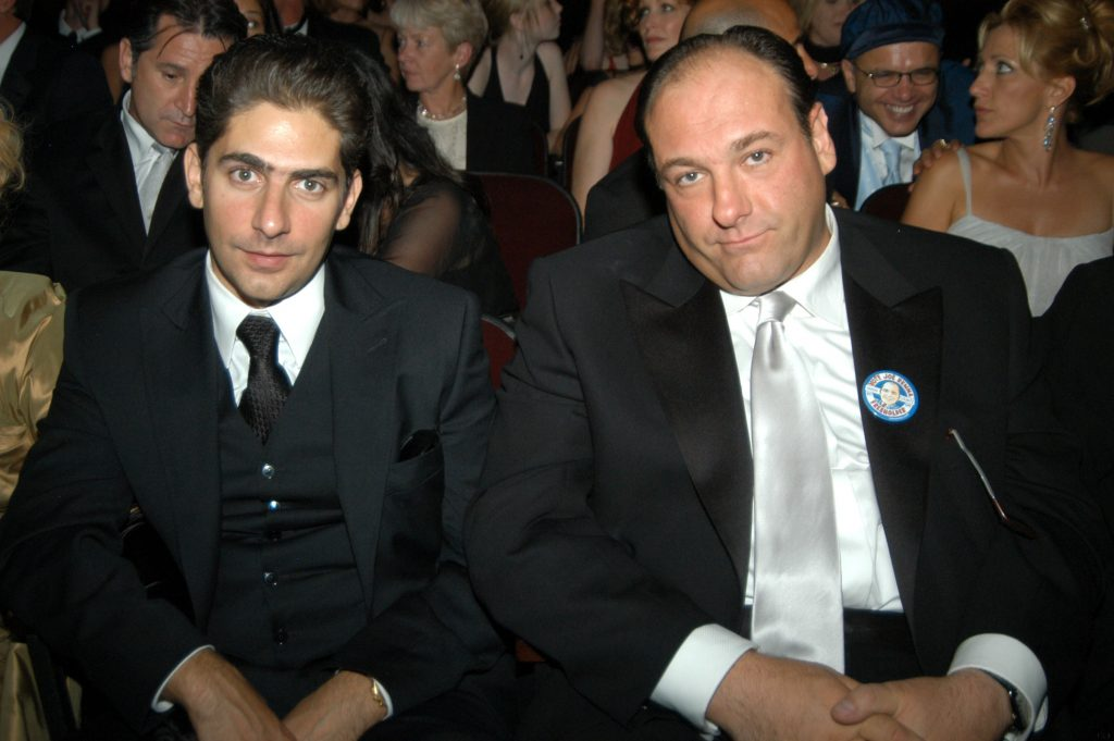 Michael Imperioli and James Gandolfini during 55th Annual Primetime Emmy Awards