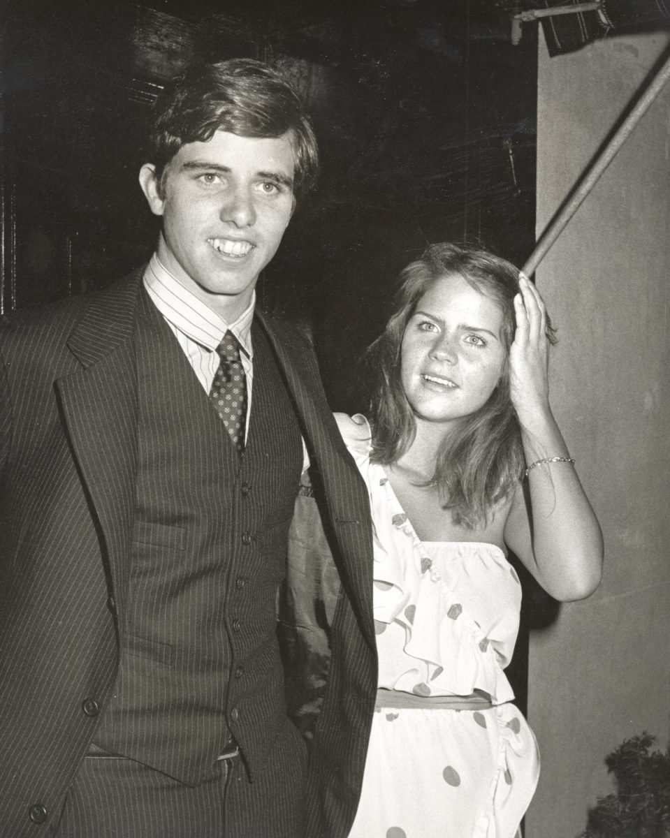 Michael Kennedy and Victoria Gifford attend their engagement party