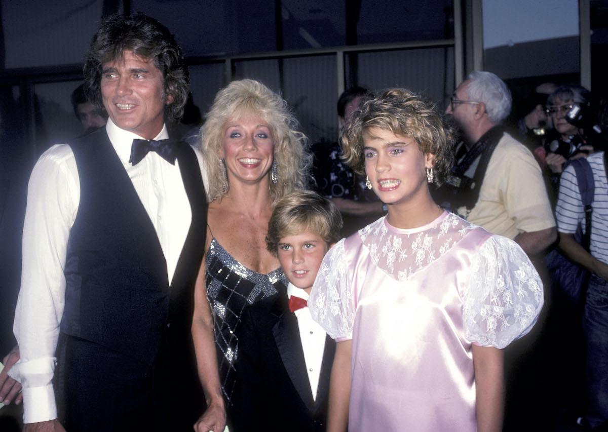 Michael Landon, wife Cindy Landon, Christopher Landon, and Shawna Landon