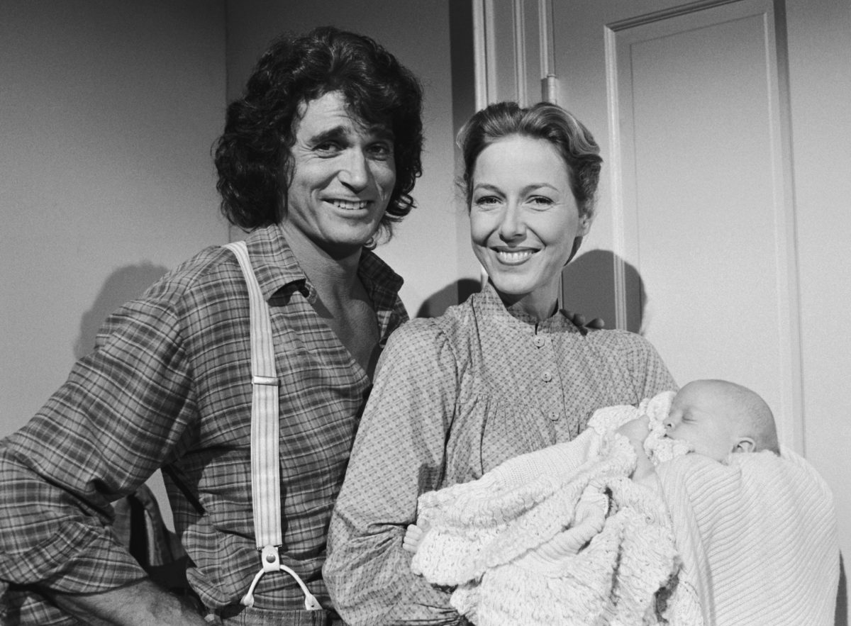 """Author! Author!"" Episode 11 -- Aired 11/26/79 -- Pictured: (l-r) Michael Landon as Charles Philip Ingalls, Karen Grassle as Caroline Quiner Holbrook Ingalls"