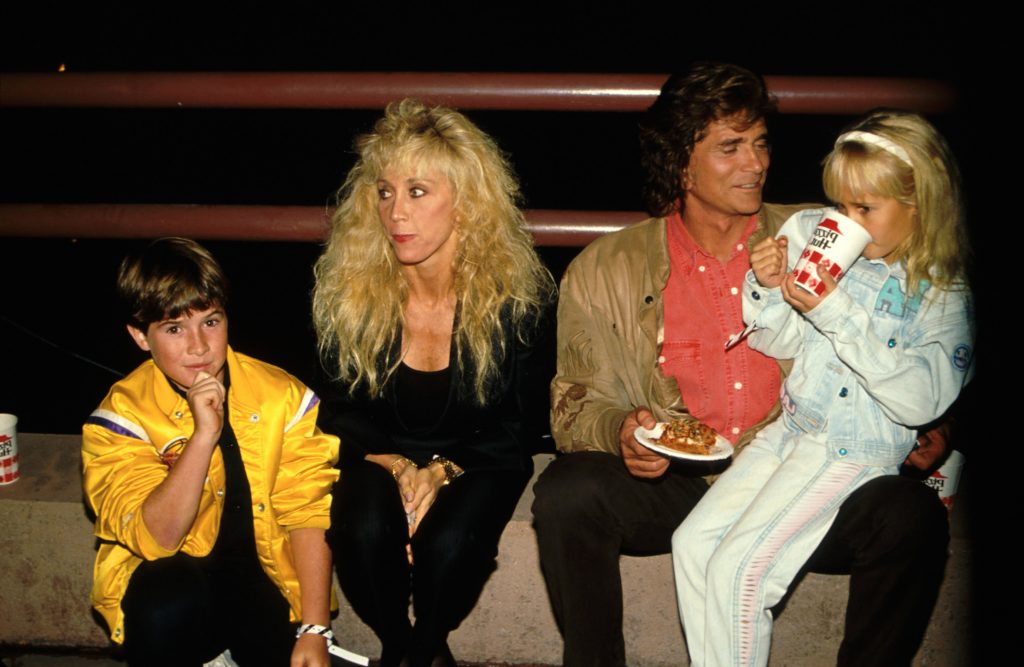 Michael Landon and wife Cindy Clerico with kids